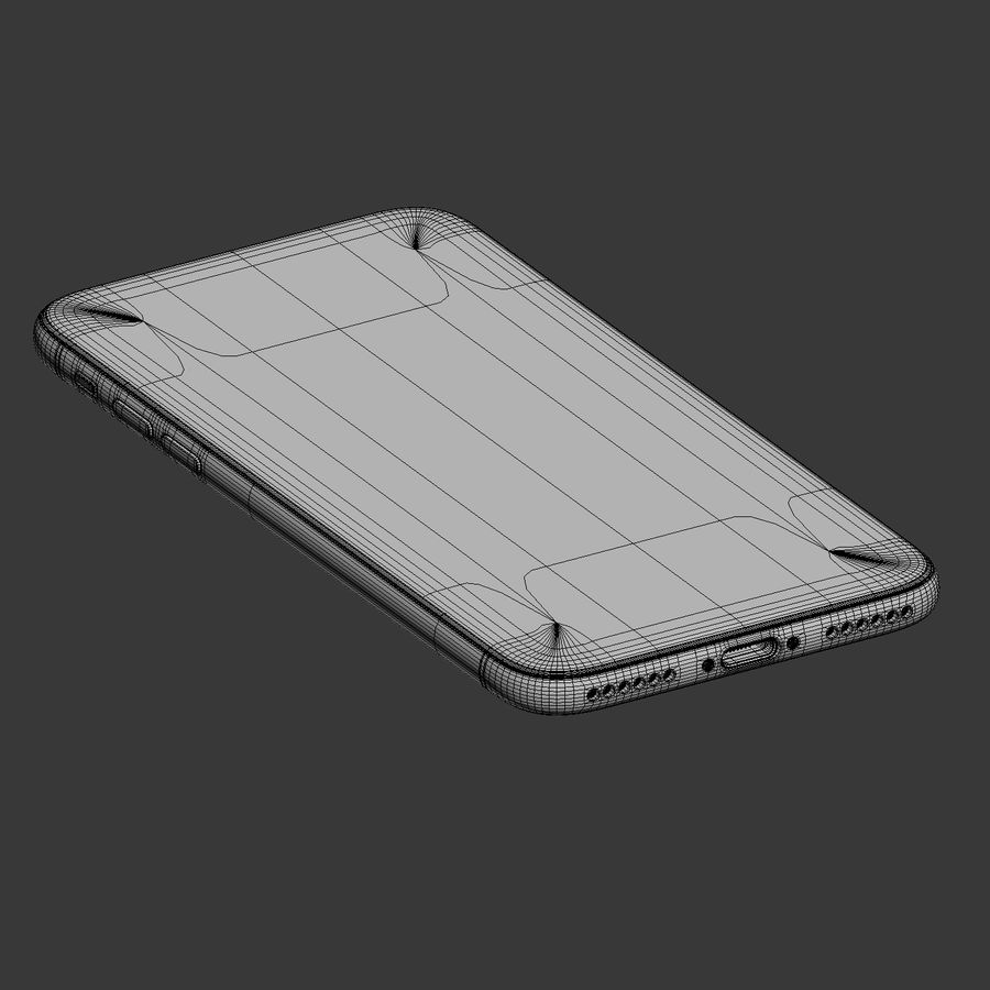 Apple iPhone X royalty-free 3d model - Preview no. 12