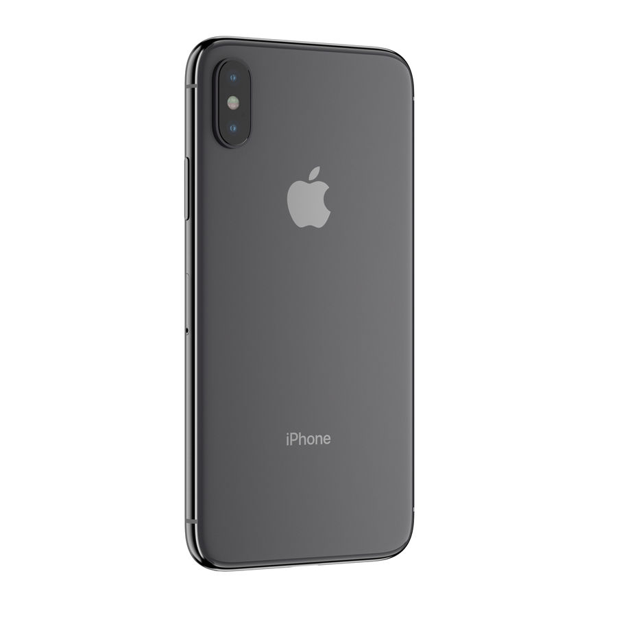 Apple iPhone X royalty-free 3d model - Preview no. 3