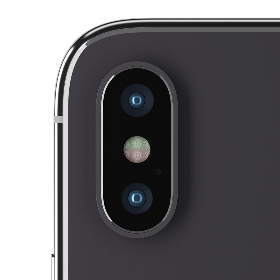 Apple iPhone X royalty-free 3d model - Preview no. 10