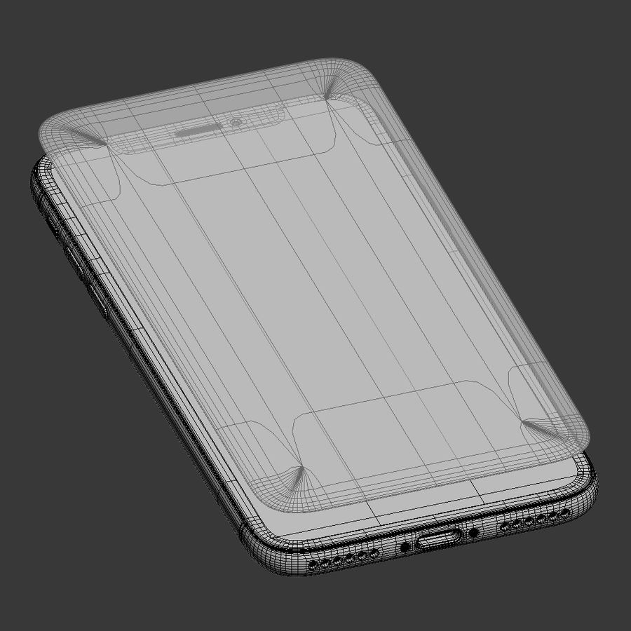 Apple iPhone X royalty-free 3d model - Preview no. 11