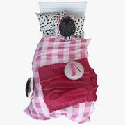 Koyun Kız Yatak Seti 3d model