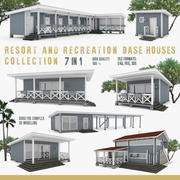 American Recreation Center Houses 7 in 1 Collection 3d model