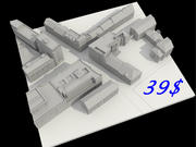 City Town Street Low Poly 3d model