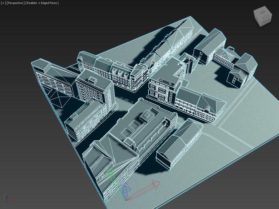 시티 타운 스트리트 로우 폴리 royalty-free 3d model - Preview no. 5