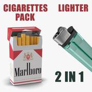 Pack de cigarettes Marlboro et modèles 3D plus légers 3d model