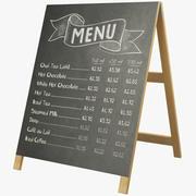 Karta menu V1 3d model