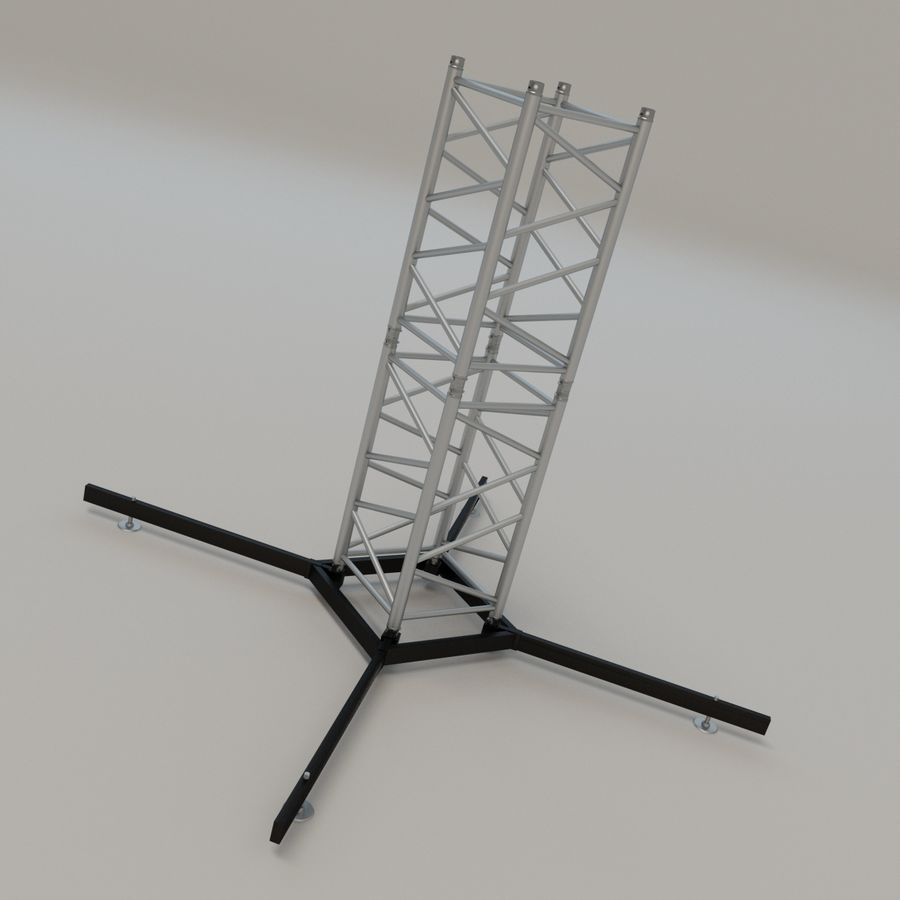 Square stand 52cm royalty-free 3d model - Preview no. 4