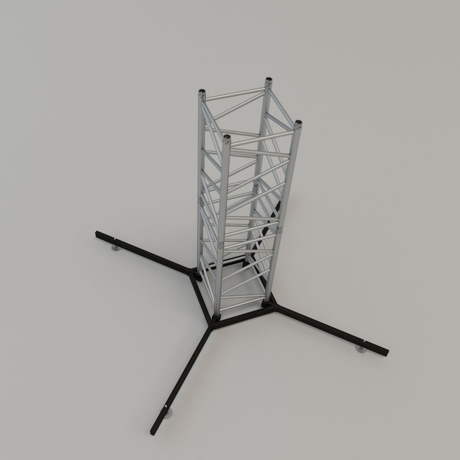 Square stand 52cm royalty-free 3d model - Preview no. 1