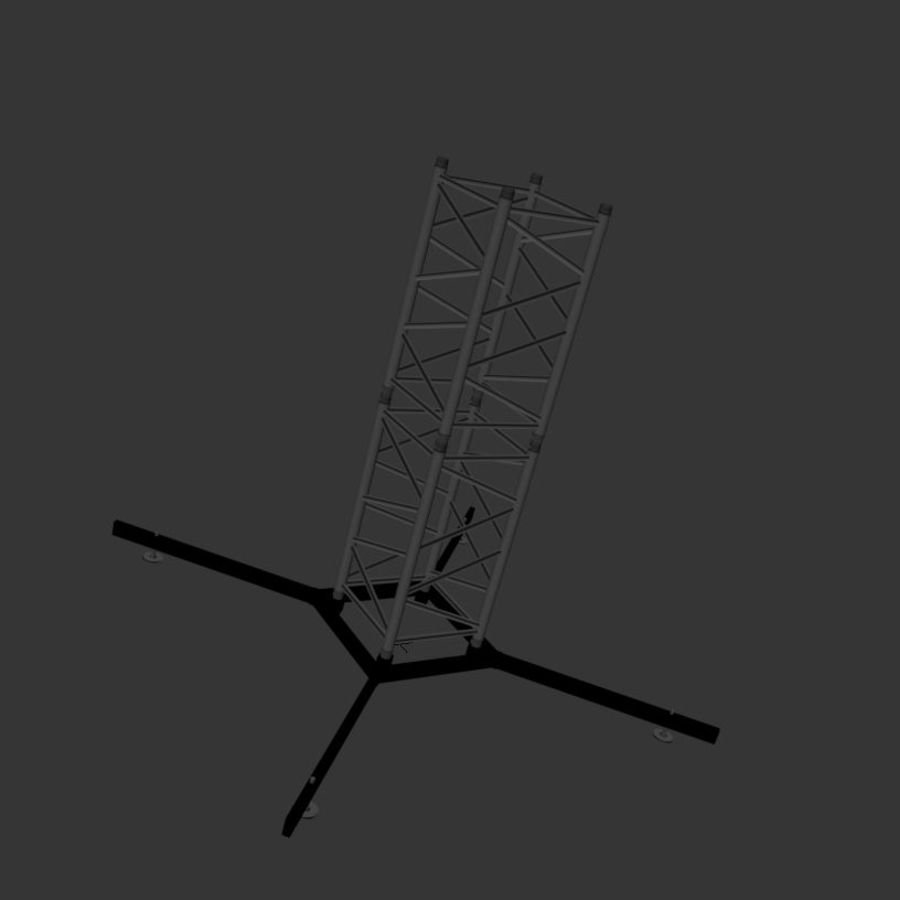 Square stand 52cm royalty-free 3d model - Preview no. 5