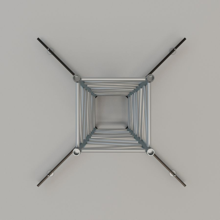 Square stand 52cm royalty-free 3d model - Preview no. 3