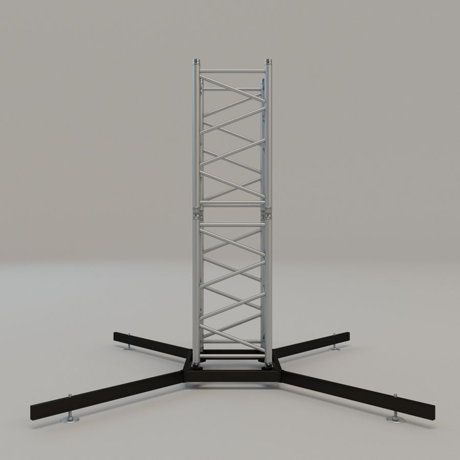 Square stand 52cm royalty-free 3d model - Preview no. 2