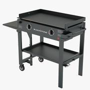 Fotorealistische bakplaat met grill voor gas op gas 3d model