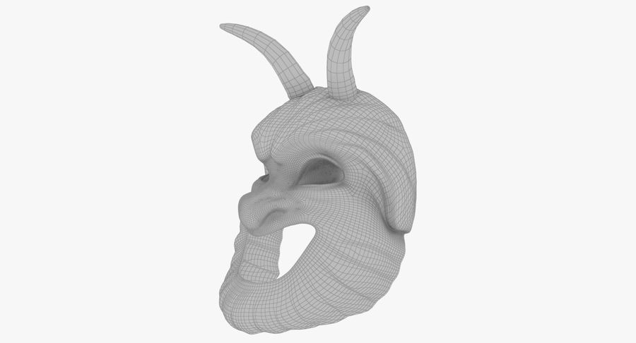 Satyr Mask royalty-free 3d model - Preview no. 11