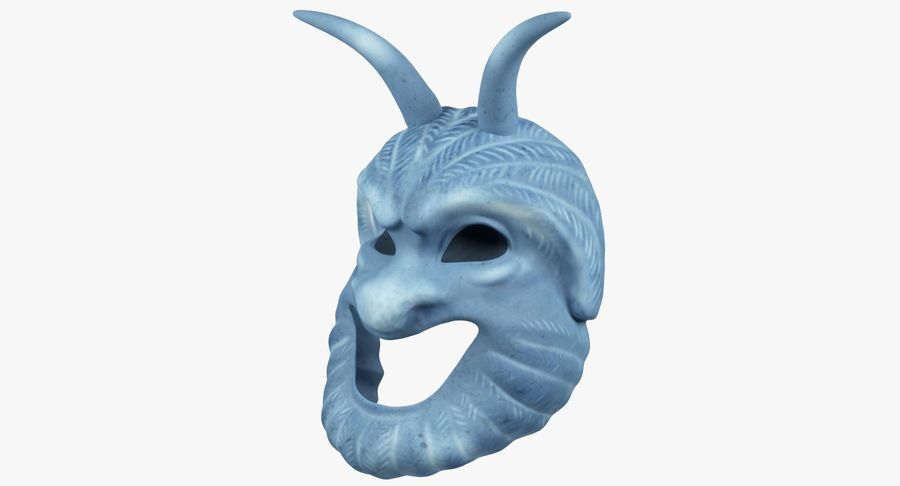 Satyr Mask royalty-free 3d model - Preview no. 4