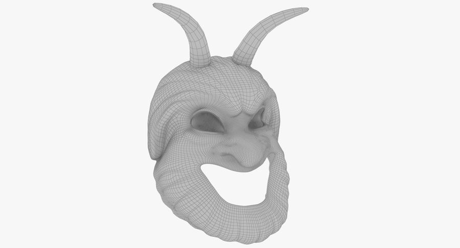 Satyr Mask royalty-free 3d model - Preview no. 10