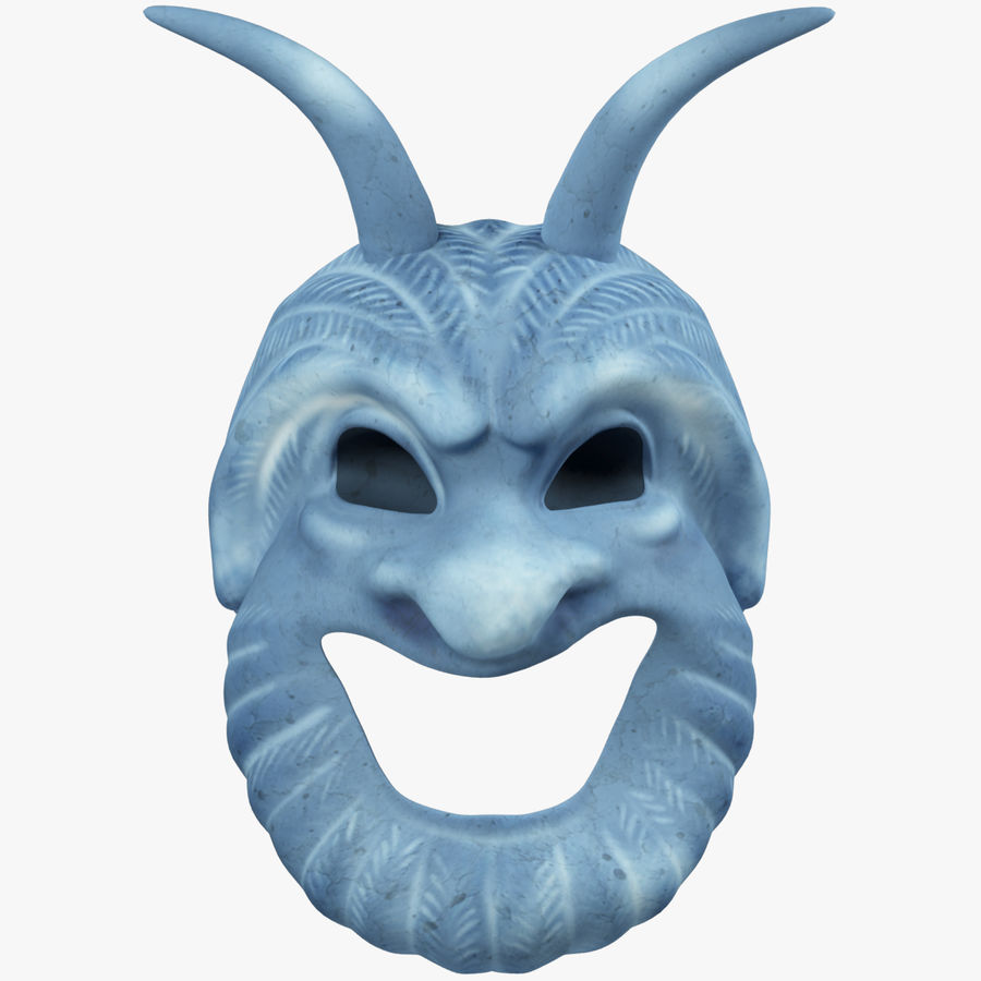 Satyr Mask royalty-free 3d model - Preview no. 1