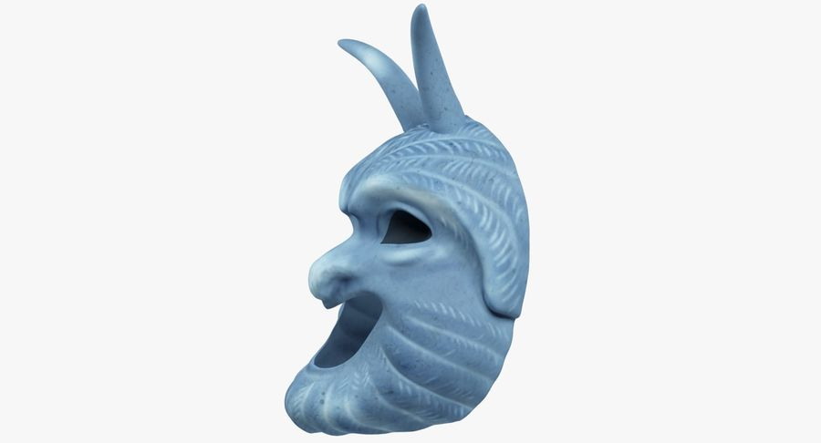 Satyr Mask royalty-free 3d model - Preview no. 5