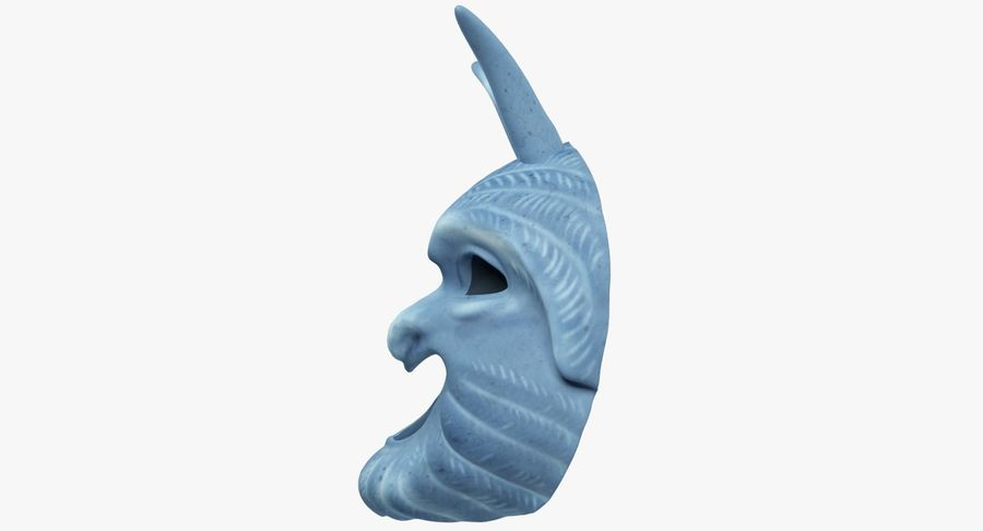 Satyr Mask royalty-free 3d model - Preview no. 6