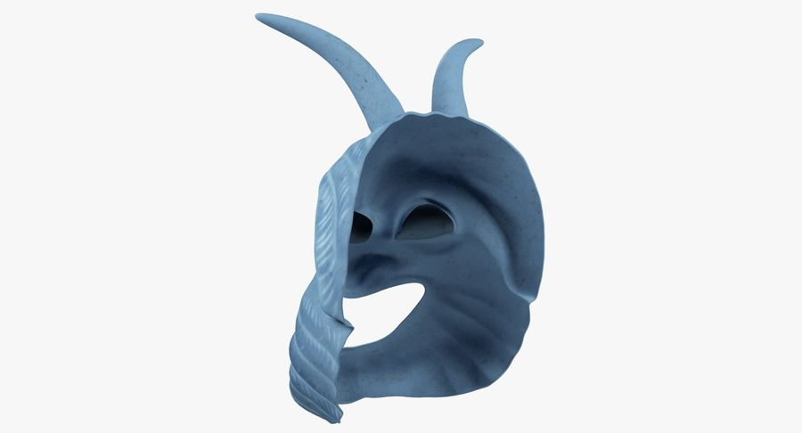 Satyr Mask royalty-free 3d model - Preview no. 7