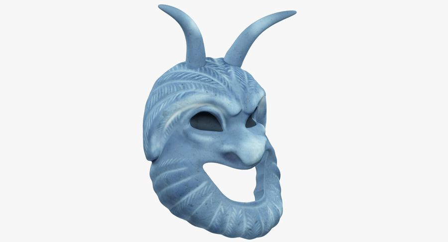Satyr Mask royalty-free 3d model - Preview no. 9
