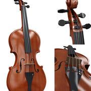 violin wood 3d model