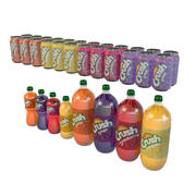 Crush soda bottles and cans 3d model