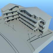 콰르 토의 주택 3d model