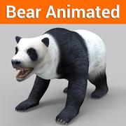 White Bear Panda  Animated 3d model