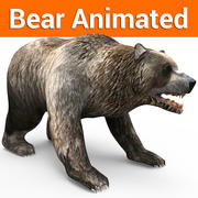 Black Brown Bear Animated 3d model