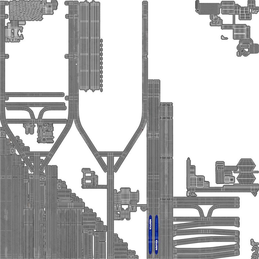 船用拖车 royalty-free 3d model - Preview no. 11