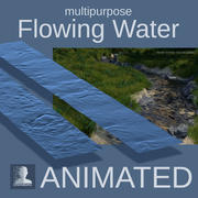 Flowing Water Surface 3d model