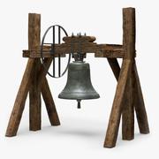 教会の鐘のサポート 3d model