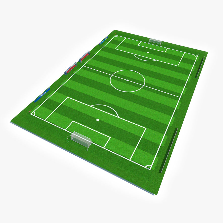 Soccer Pitch royalty-free 3d model - Preview no. 1