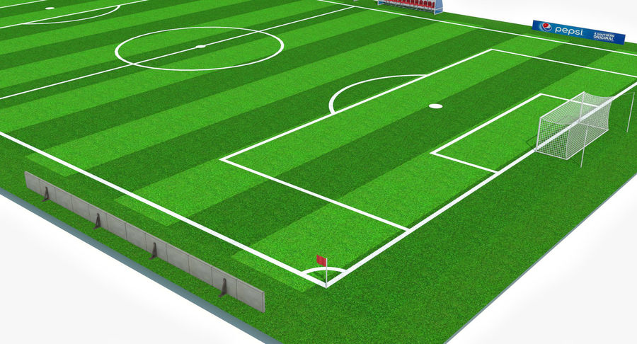 Soccer Pitch royalty-free 3d model - Preview no. 8