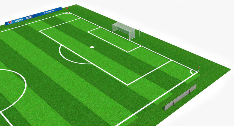 Soccer Pitch royalty-free 3d model - Preview no. 4