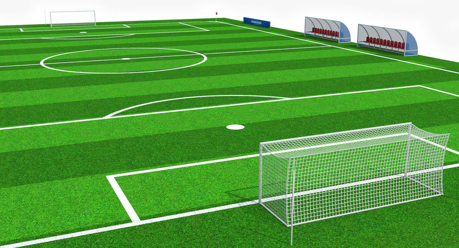 Soccer Pitch royalty-free 3d model - Preview no. 5