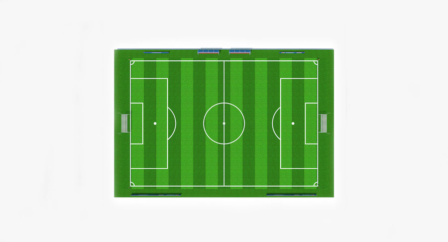 Soccer Pitch royalty-free 3d model - Preview no. 10