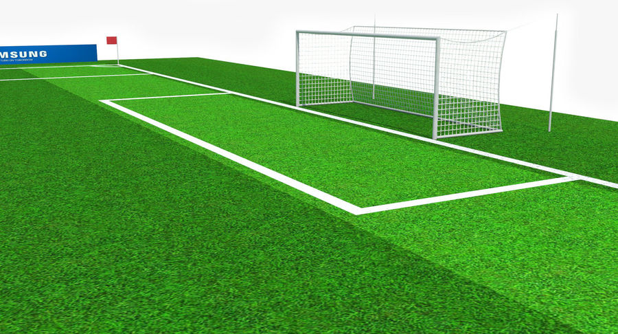 Soccer Pitch royalty-free 3d model - Preview no. 7
