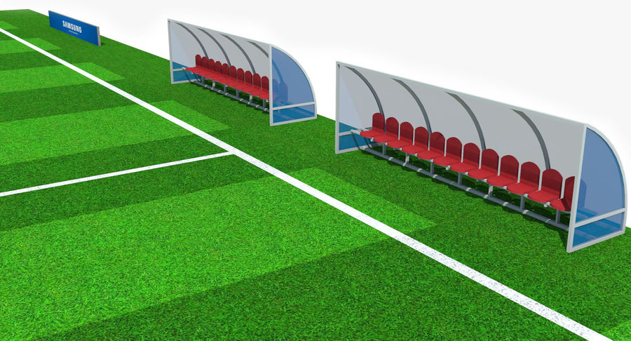 Soccer Pitch royalty-free 3d model - Preview no. 11
