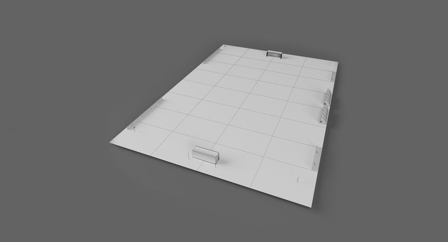 Soccer Pitch royalty-free 3d model - Preview no. 14