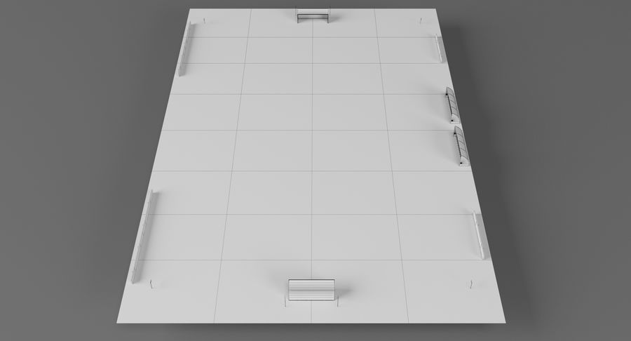 Soccer Pitch royalty-free 3d model - Preview no. 13