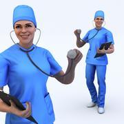 doctor female 3d model
