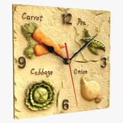 Zegar ścienny z owocami 3d model