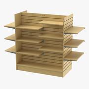 Slat Wall Gondolas and Shelves 01 01 3d model