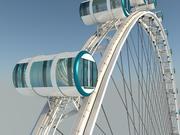 新加坡摩天轮 详细模型 摩天轮 3d model