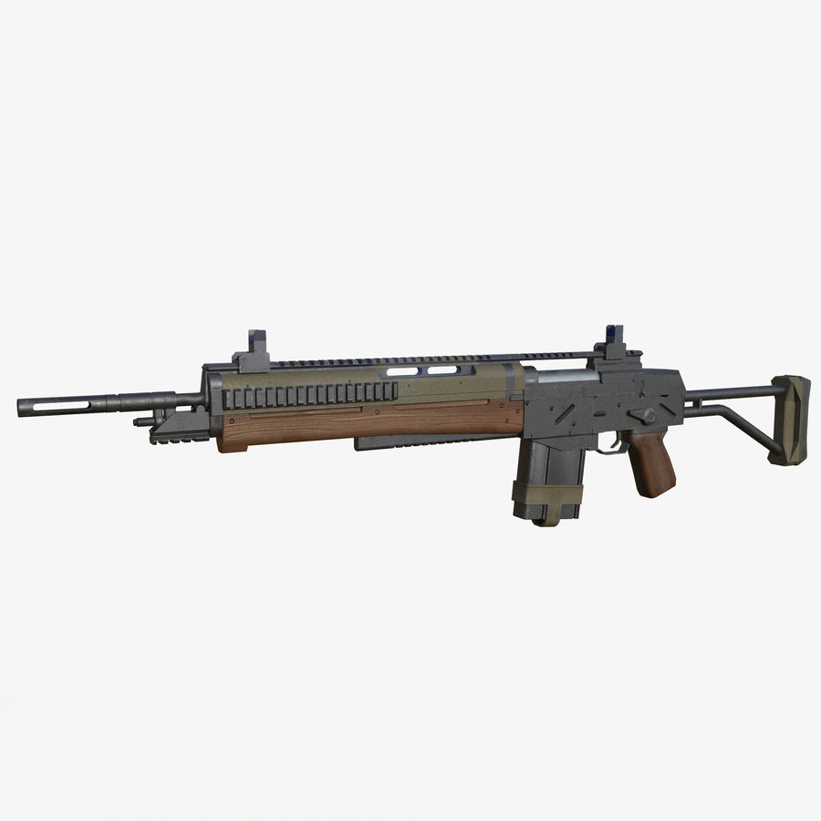 Fusil d'assaut royalty-free 3d model - Preview no. 1