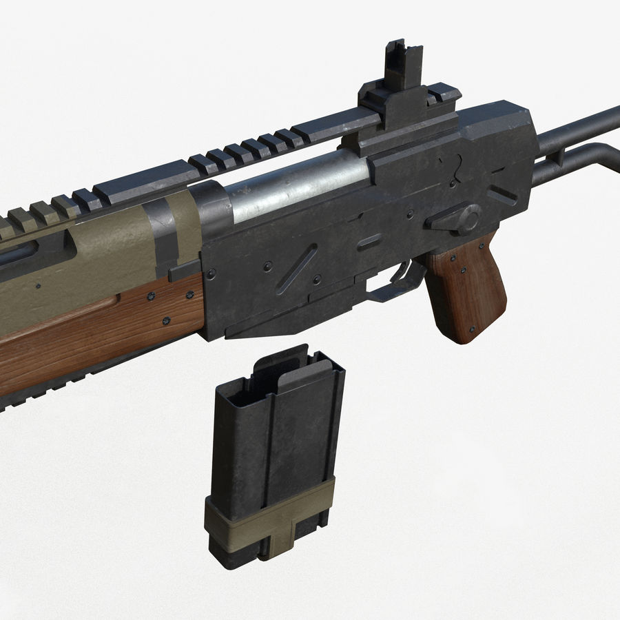 Fusil d'assaut royalty-free 3d model - Preview no. 5