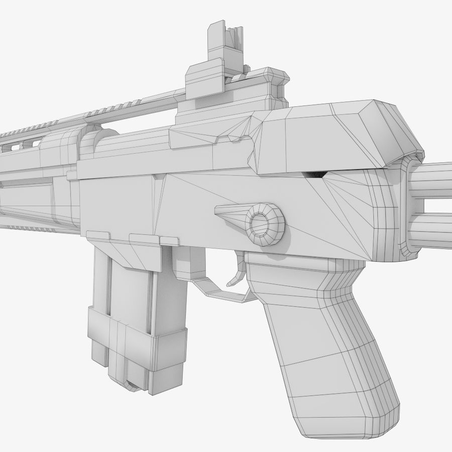 Fusil d'assaut royalty-free 3d model - Preview no. 11