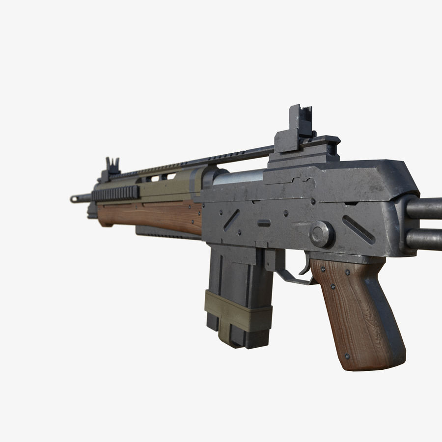 Fusil d'assaut royalty-free 3d model - Preview no. 2