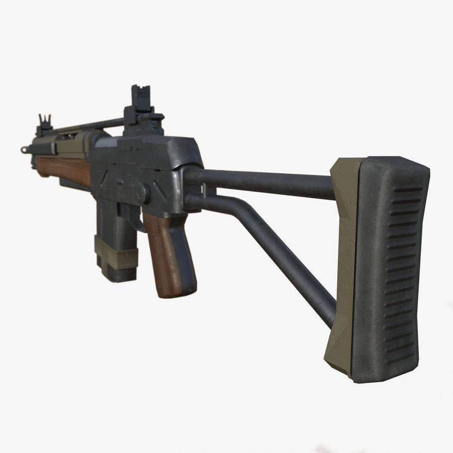 Fusil d'assaut royalty-free 3d model - Preview no. 3